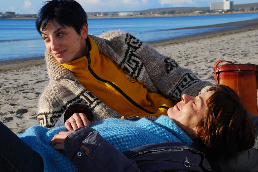 Amateur lesbiennes op het strand